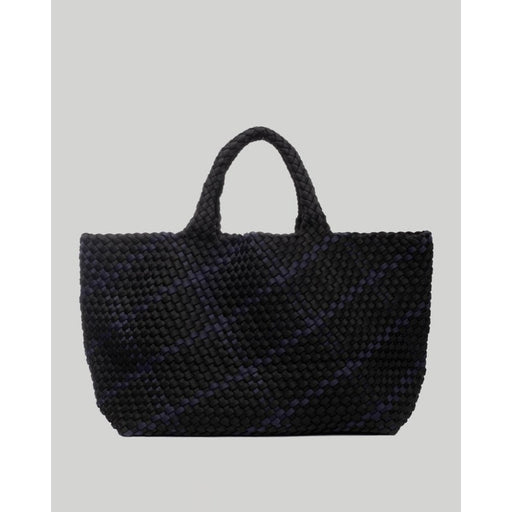 NAGHEDI St. Barths Large Plaid Tote Bag | Shadow