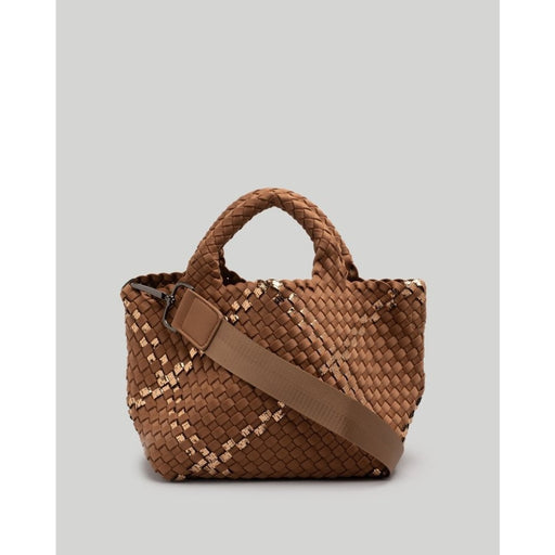 NAGHEDI St. Barth's Mini Plaid Bag | Brown Sugar