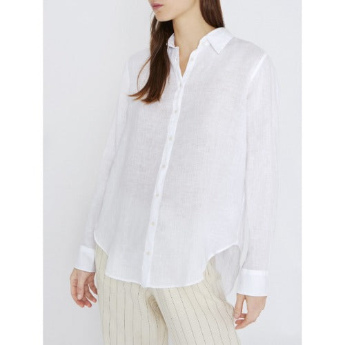 0039 ITALY Sanja Button Front Linen Shirt  Shop Sanja 9440