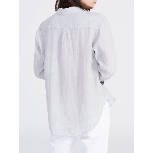 0039 ITALY Sanja Button Front Linen Shirt 9440 | White