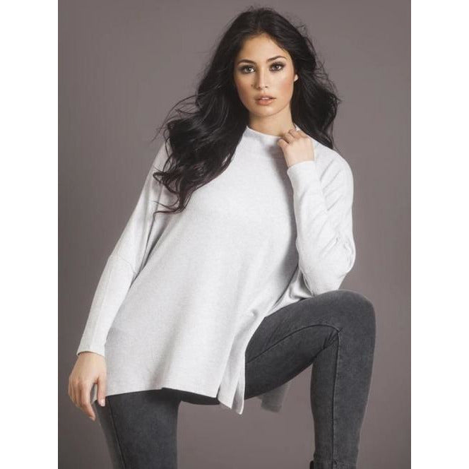 French Kyss Super Soft Oversized Mock Neck Top F-1017