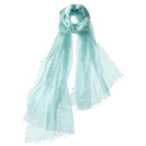 Captiva Cashmere Alta Featherweight Cashmere Scarf  Aqua| Buy Captiva Cashmere Featherweight Shawls & Scarves Now