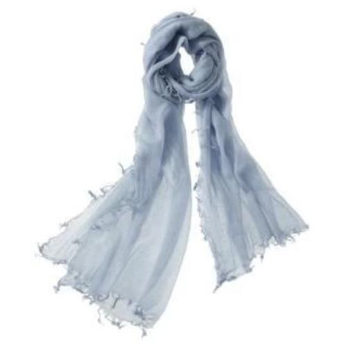 Captiva Cashmere Alta Featherweight Cashmere Scarf Denim Melange | Buy Captiva Cashmere Featherweight Scarves Today