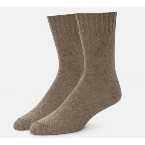 B.ELLA Este Solid Wool and Cashmere Blend Crew Sock | Suede Brown