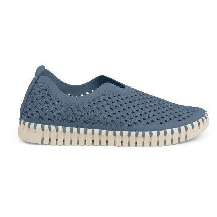 Ilse Jacobsen Hornbæk Tulip 139 Sneakers | Grey Blue 636 Laser Cut Perforated Sneakers Media 1 of 3        TBlueGrey