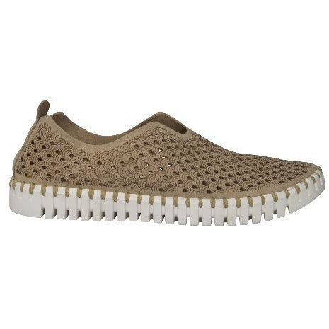 Ilse Jacobsen Tulip 139 Perforated Slip On Sneakers | Latte 110