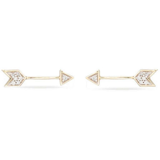 Adina Reyter Tiny Pave Diamond 14k Yellow Gold Post Earrings