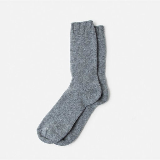 B.ELLA Ultimo Luxe Cashmere Crew Sock 0556 Charcoal