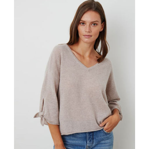 Velvet Vida Cashmere Sweater | Bisque