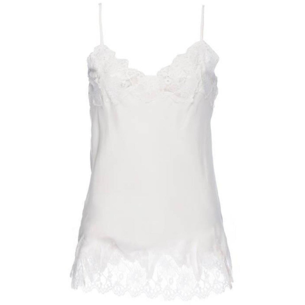 Gold Hawk Marilyn Silk and Lace Cami GH156 Bright White/White Lace