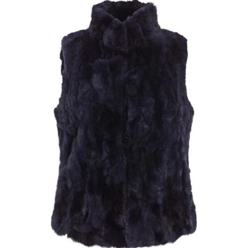 Natures Collection Katy Rex Rabbit Fur Vest NCF1371 | Shop Fur Vests