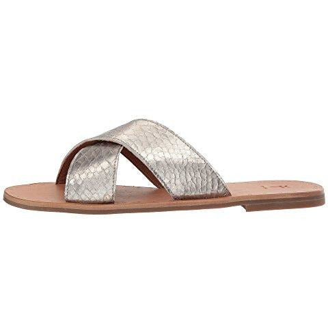 FRYE Ally Criss Cross Metallic Slide | Clearance Sale | No Return
