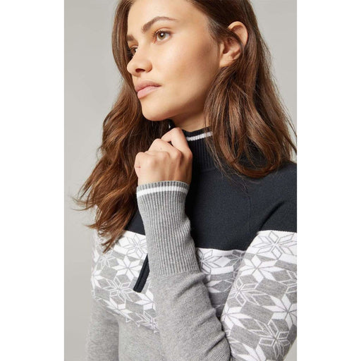 Alp N Rock Monika Sweater F20LSP09DPO | Heather Grey 1/2 Zip Sweater