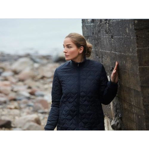 Ilse Jacobsen Hornbæk Art Padded Quilted Coat Art 06 Dark Indigo | Shop  Now