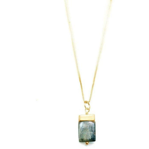 Philippa Roberts Jewelry Tab with Kyanite Yellow Gold Vermeil Necklace | Shop Philippa Roberts Jewelry