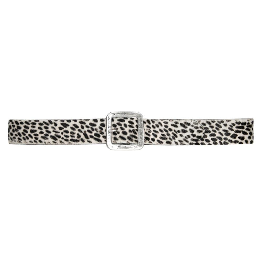 Streets Ahead Printed Calf Hair Neve Cheetah 28363 Cheetah Print with Antique Silver Buckle