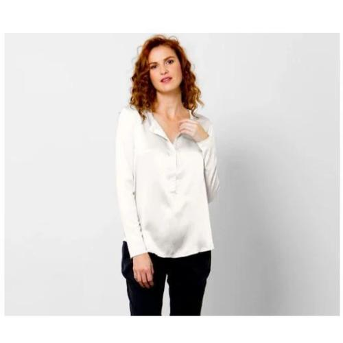 go by Go Silk Iconic Go Luxe Simple Top T081 | White