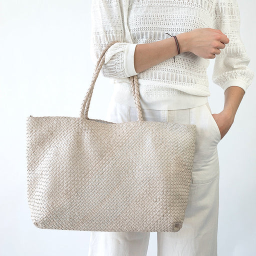 Allan K Habiba Dama Leather Woven Tote | Zero