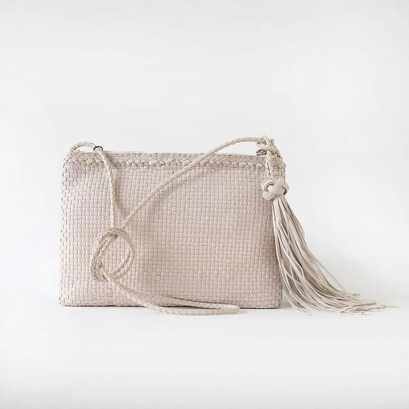 Allan K Pochette Dama Woven Leather Crossbody Bag | Zero