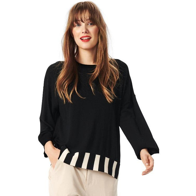 Bitte Kai Rand Bloom Knit Top 211-1015-3221 | Black