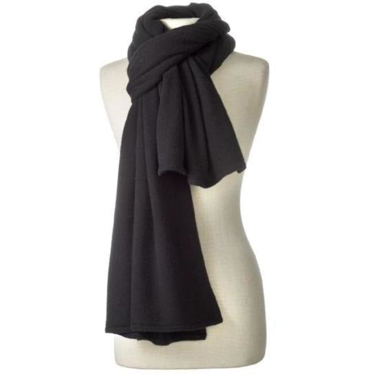 Captiva Cashmere Over-Sized Travel Wrap Black | Cashmere Wraps