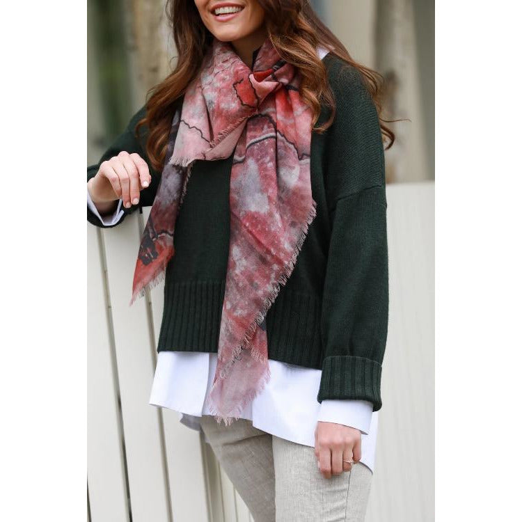 "dog & boy Simplicity 50"" x 50"" Merino Wool Scarf 