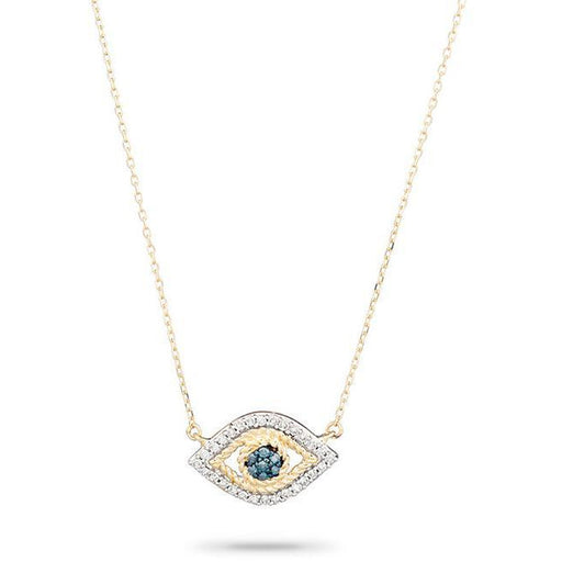 Adina Reyter Jewelry  Tiny Pavé Evil Eye Necklace