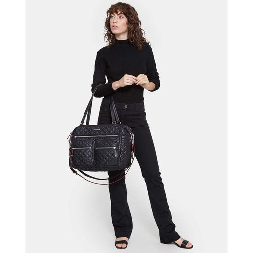 MZ Wallace Crosby Traveler 10030108 Black with Silver Hardware