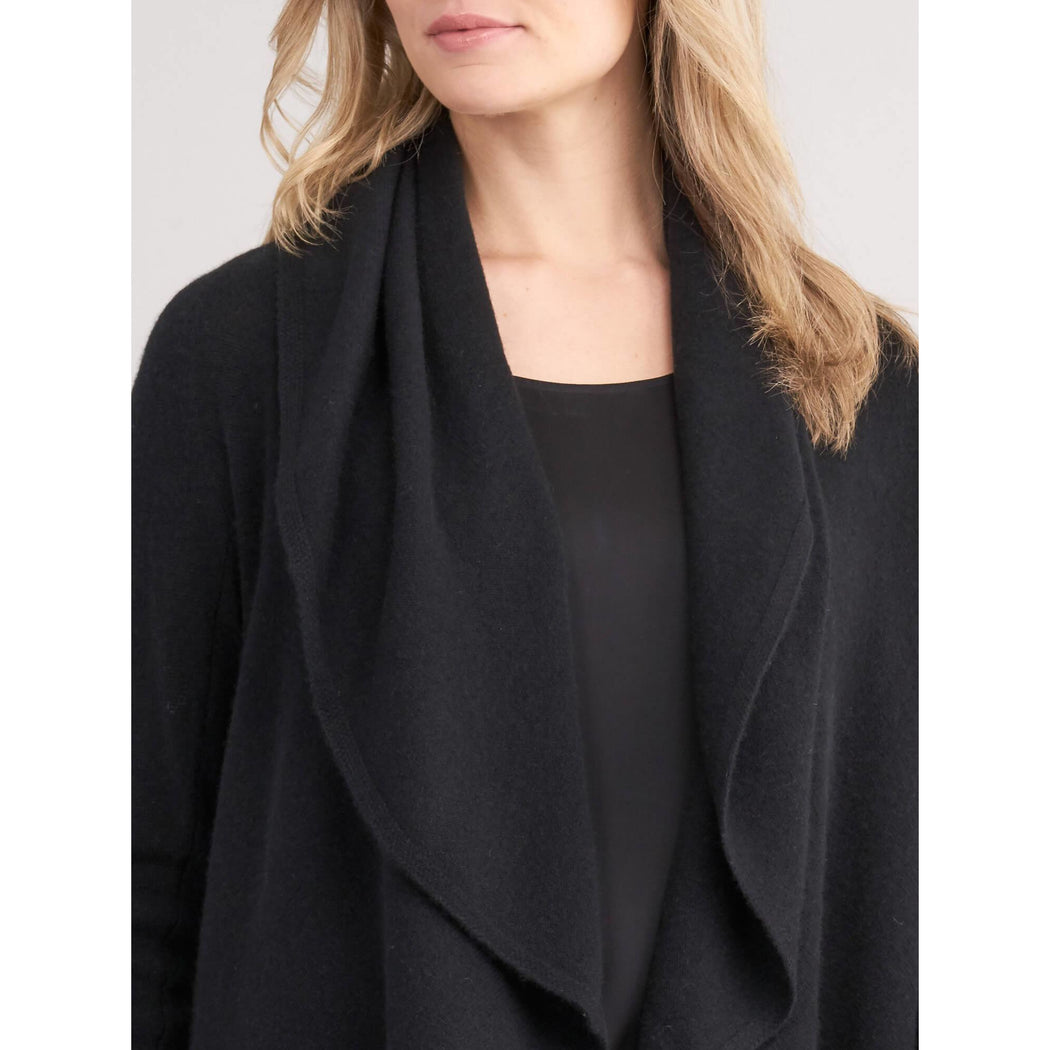 Repeat Cashmere Circle Cardigan 100022 Black