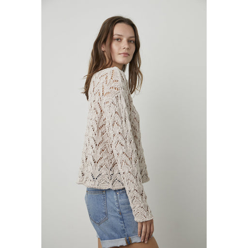 Velvet by Graham & Spencer Nitsa Cotton Tape Pull Over | Putty