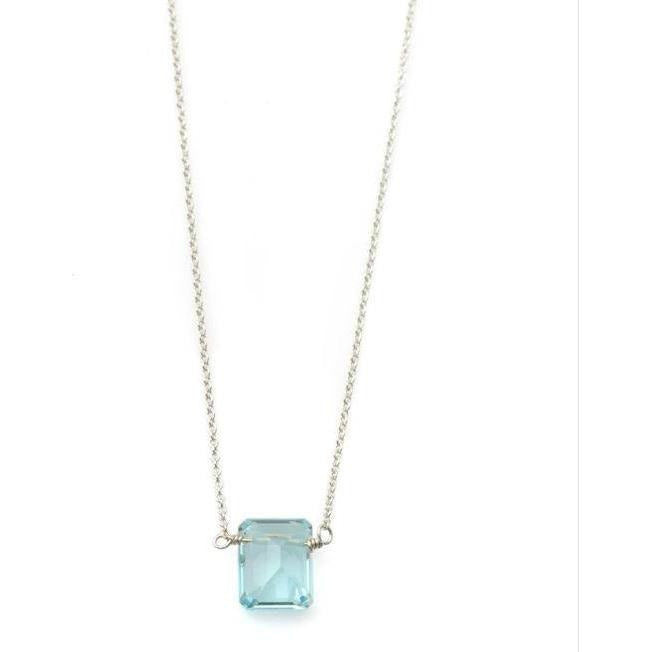 Philippa Roberts Jewelry One Blue Topaz Sterling Silver Necklace 133-27SN | Shop Philippa Roberts Fine Jewelry Collection