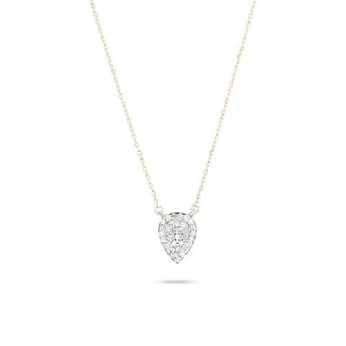 Adina Reyter Jewelry Pavé  Diamond Teardrop Necklace