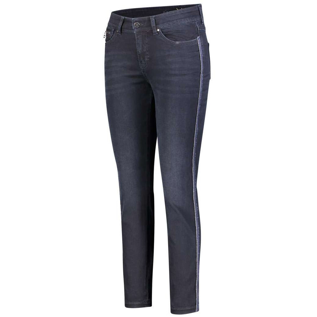 Mac Dream Slim Chain Stripe Denim 5435-0355-D869 Dark Wash Blue