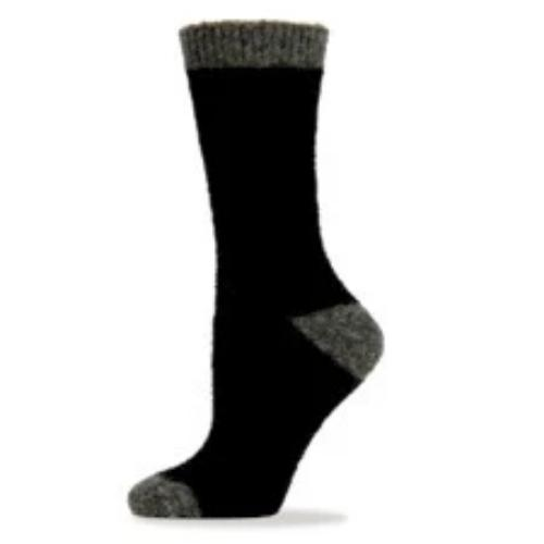 B.ELLA Alpino Contrast Toe and Heel Wool Crew Sock | Caviar