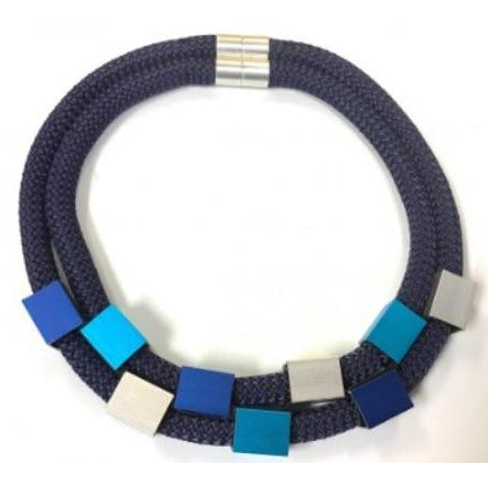 Christina Brampti Blue Double Strand Necklace CB-1889U