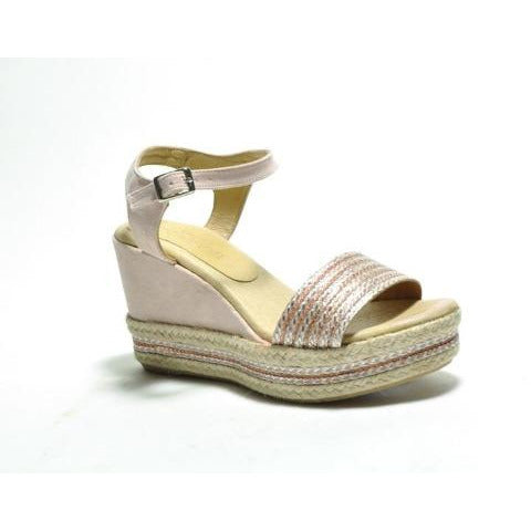 Cordani Evie Platform Wedge Sandal Blush Glitter | Shop Sandals & Wedges