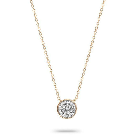 Adina Reyter Jewelry  14K Gold Pavé Disc Diamond  Necklace