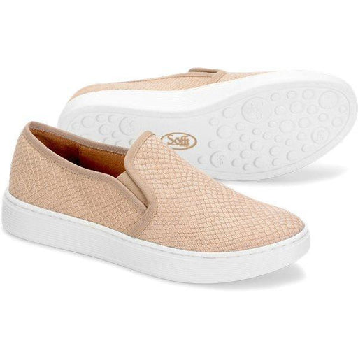Sofft Shoes Somers Blush Snake Print Leather Slip On Sneaker | Shop Our Everyday Comfortable Shoes and Sneakers by Sofft today!
