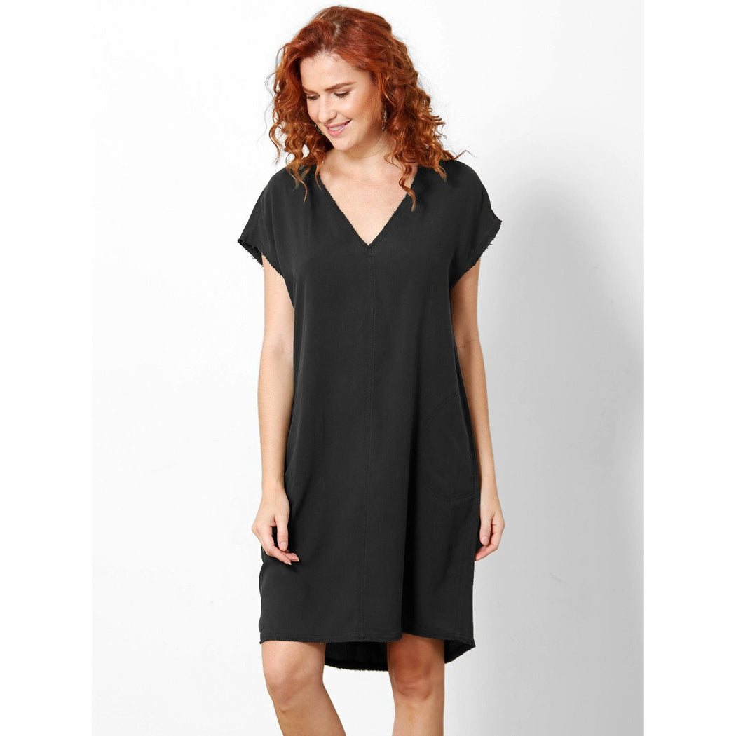 go by Go Silk Raw Revisited Dress D277 | Washed Black | Shop our washable silks by go by Go Silk and enjoy free shipping on all domestic orders $100 or more.