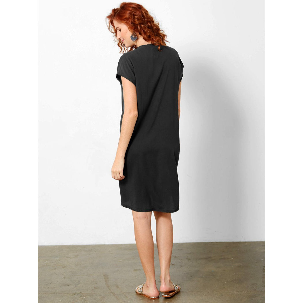 go by Go Silk Easy Does It Top T1127 Washed Black | Washed 100% Silk Reverse Charmeuse | Shop now and enjoy free domestic shipping on all orders $100 or more.