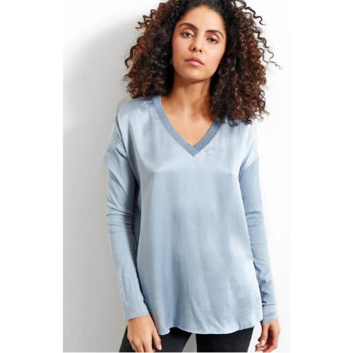 Go by Go Silk Go V Tee Chambray