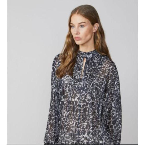 Summum Woman Leopard Print Shirt 2s2469-11254 | Clearance Final Sale