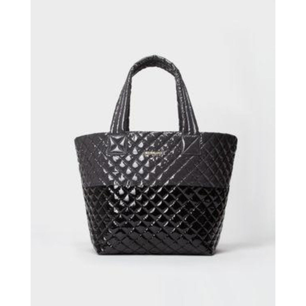 MZ Wallace Metro Tote Medium Quilted Bag Colorblock | Magnet/Black Lacquer