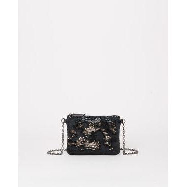 MZ Wallace Ruby Quilted Crossbody | Black & Silver Sequin 1291C1684