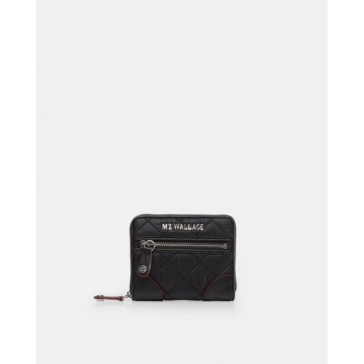 MZ Wallace Crosby Mini Wallet  1153 Black