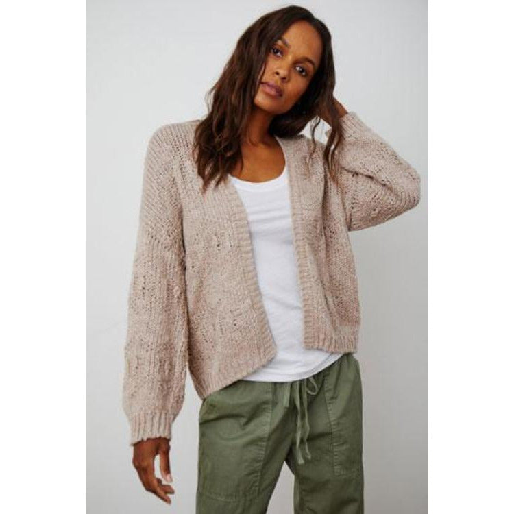 Velvet by Graham & Spencer Neza Cotton Open Cardigan | Mauve