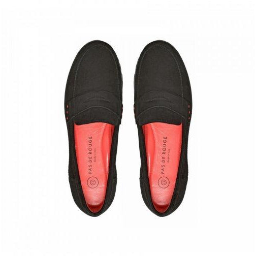 Pas De Rouge Marta Loafer N399 Black Suede | Shop All Boots Shoes and Booties by Pas De Rouge |  Receive Free Domestic Shipping With Orders $100 or More