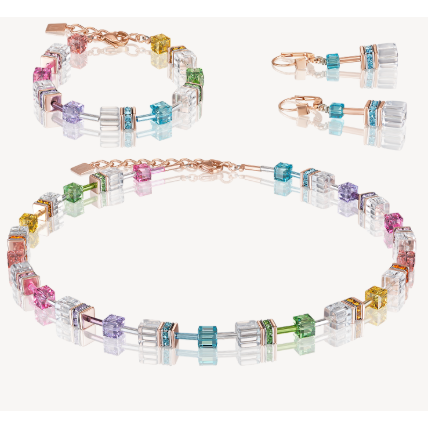 CŒUR de LION® | Necklace multicolor crystal 4022101500