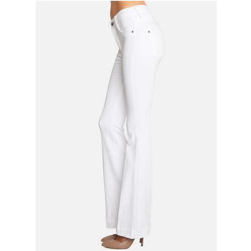 James Jeans Shayebel White Clean Flares | Shop James Jeans Premium Denim