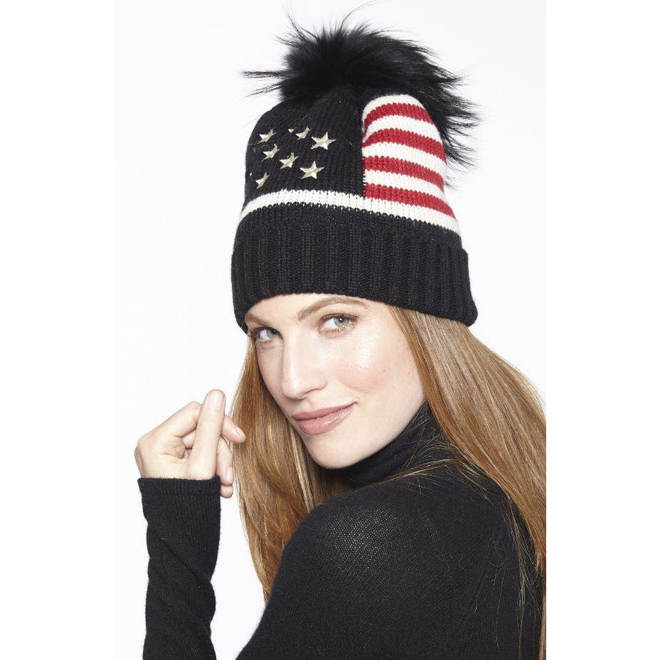 Linda Richards Stars and Stripes Pom Pom Hat HA-52